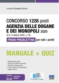 concorso 1226 posti agenzia delle dogane e dei monopoli 2020