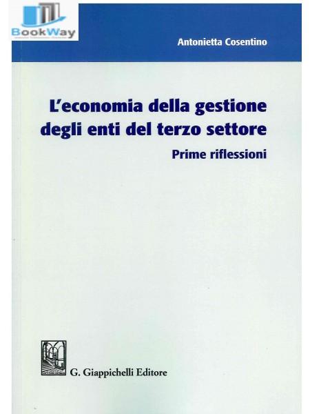 l' economia della gestione degli enti del terzo settore