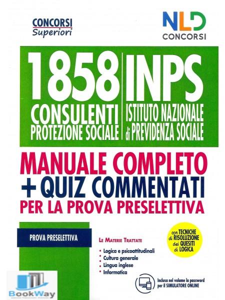 1858 inps - manuale di preparazione alla prova preselettiva