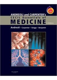 Andreoli and Carpenter's Cecil Essentials of Medicine di Andreoli, Carpenter, Griggs, Benjamin