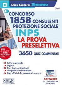 Concorso INPS 1858 Consulenti Protezione Sociale INPS Prova Preselettiva