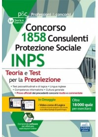 Concorso INPS 1858 Consulenti Protezione Sociale Prova Preselettiva