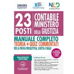 23 posti contabili ministero della giustizia. manuale completo + quiz