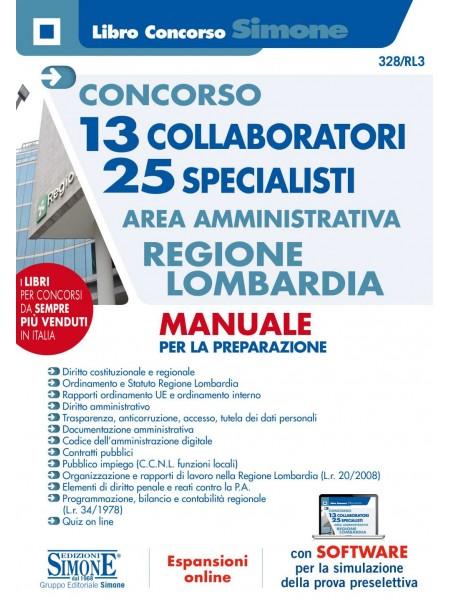 Concorso 13 Collaboratori 25 Specialisti Area Amministrativa Regione Lombardia Manuale
