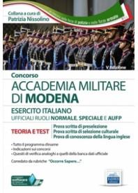 Concorso Accademia Militare di Modena Ufficiali Esercito Italiano di Nissolino