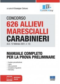 concorso 626 allievi marescialli carabinieri