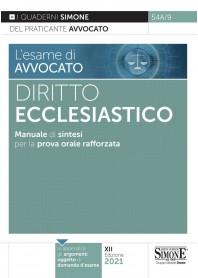 Esame di Avvocato Diritto Ecclesiastico Quaderni