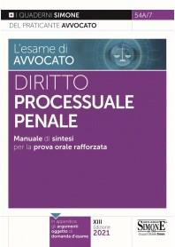 Esame di Avvocato Diritto Processuale Penale Quaderni