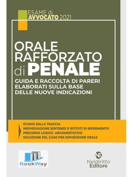 orale rafforzato di penale. esame di avvocato 2021
