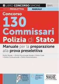 Concorso 130 Commissari Polizia di Stato Manuale
