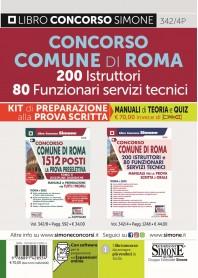 Concorso Comune Roma 200 Istruttori 80 Funzionari Servizi Tecnici Kit