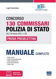 130 commissari polizia di stato concorso. manuale completo