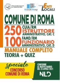 comune di roma 250 cuia-rm 100 famd-rm. manuale completo+quiz