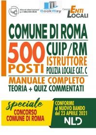 500 posti comune di roma cuiprm. istruttore polizia locale cat. c.