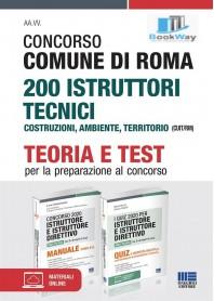 kit concorso comune di roma 200 istruttore tecnici