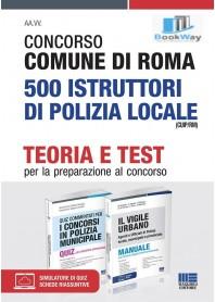 kit concorso comune di roma 500  istruttori di polizia locale