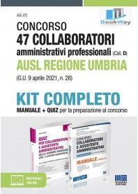 concorso 47 collaboratori amministrativi professionali ausl regione umbria kit