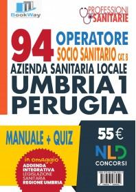 94 oss, cat b. azienda sanitaria locale umbria 1 - perugia . kit manuale+quiz+addenda