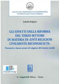 effetti della riforma del terzo settore in materia di enti religiosi civilmente riconosciuti