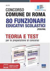 concorso comune di roma 80 posti funzionario educativo scolastico cat. d  teoria e test