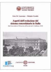 aspetti dell'evoluzione del sistema concordatario in italia
