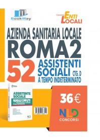 asl roma 2 - 52 assistenti sociali ctg. d a tempo indeterminato