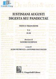 iustiniani augusti digesta seu pandectae. v.2  33-36