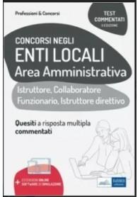 Concorsi negli Enti Locali Area Amministrativa Test