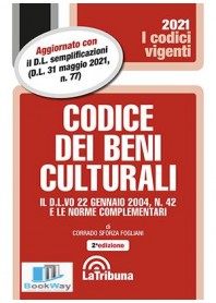 codice dei beni culturali 2021