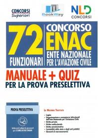 72 funzionari enac concorso 2021. manuale + quiz