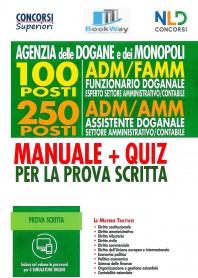 100 posti adm-famm - 250 adm-amm  manuale + quiz