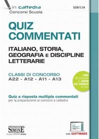 Quiz Commentati Italiano, Storia, Geografia e Discipline Letterarie