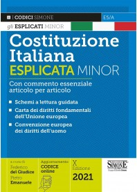 Costituzione Italiana Esplicata Minor di Del Giudice, Emanuele