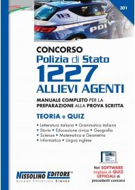 Concorso Polizia di Stato 1227 Allievi Agenti