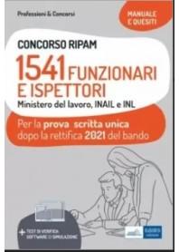 Concorso RIPAM 1514 Funzionari e Ispettori nel Ministero del Lavoro, nell'INL e nell'INAIL Prova Scritta 2021