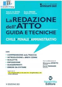 redazione dell'atto guida e tecniche civile - penale - amministrativo. esame avvocato 2021