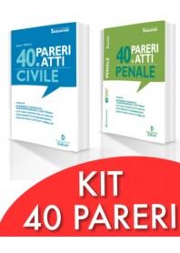 Offerta 40 Pareri e Atti Civile + 40 Pareri e Atti Penale Nel diritto