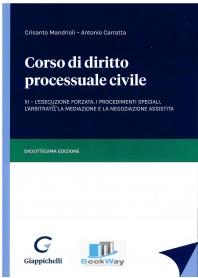 corso diritto processuale civile 3 vol.