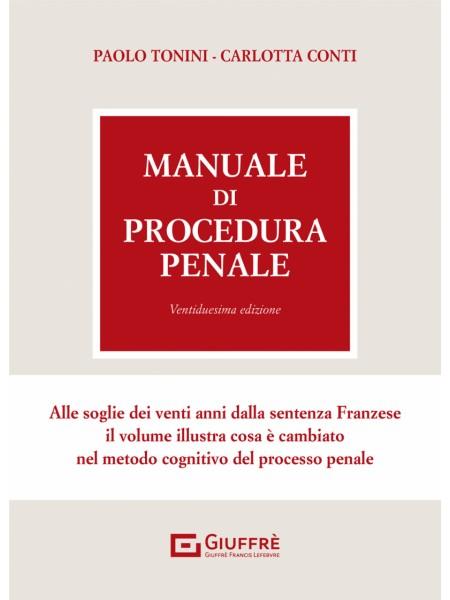 Manuale di Procedura Penale di Tonini