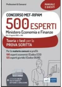 Concorso MEF-RIPAM 500 Esperti Ministero Economia e Finanze