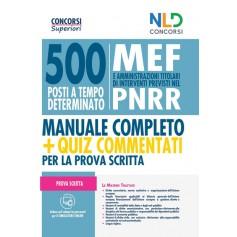 500 posti mef pnrr. manuale+quiz