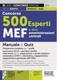 Concorso 500 Esperti MEF e Amministrazioni Centrali
