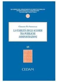 La Stabilita' Degli Accordi Tra Pubbliche Amministrazioni di Santacroce