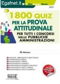 1800 Quiz Per La Prova Attitudinale di AA.VV.
