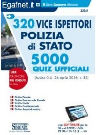 320 Vice Ispettore Polizia Di Stato - 5000 Quiz Ufficiali di AA.VV.