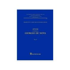 Studi in Onore di Giorgio De Nova di De Nova