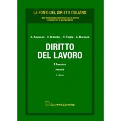 Diritto del Lavoro Vol. IV Il processo di Amoroso, Di Cerbo, Foglia, Maresca