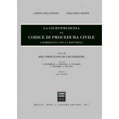 La Giurisprudenza sul Codice di Procedura Civile Libro II tomo I di Stella Richter