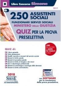 Concorso 250 Assistenti Sociali - Funzionari servizi sociali Ministero della Giustizia Quiz per la prova preselettiva